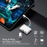 USB-C Camera connection kit 3 in 1 voor iPad & andere apparaten met USB-C aansluiting / USB / MICRO SD
