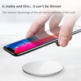 Baseus draadloze QI oplader voor iPhone 11, iPhone Xs, iPhone Xr, iPhone 8 e.d. - wit