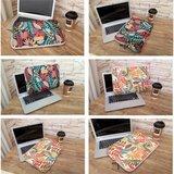LISEN MacBook 13 inch sleeve Kleurijke bladeren Sleeve - zwart