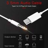 USB-C naar 3.5mm AUX kabel - zilver