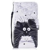 iPhone 7 / 8 wallet case hoesje met katten - wit