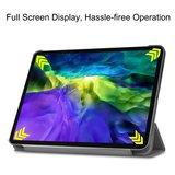 Tri-fold smart case hoes voor iPad Pro 12.9 (2020) - grijs