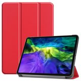 Tri-fold smart case hoes voor iPad Pro 12.9 (2020) - rood