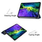 Tri-fold smart case hoes voor iPad pro 11 (2020) - blauw