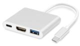 USB C naar HDMI / USB A / USB C adapter voor MacBook, iPad pro (2018 / 2020), e.d.