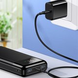 USAMS US-CD103 PB38 QC3.0+PD Fast Charge LED Power Display Powerbank 30000 mAh