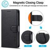 LC.IMEEKE Wallet / portemonnee hoesje voor iPhone 12 - zwart