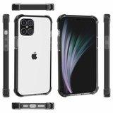 iPhone 12 / iPhone 12 Pro bumper case TPU + acryl - transparant zwart