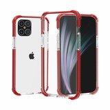 iPhone 12 / iPhone 12 Pro bumper case TPU + acryl - transparant rood