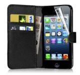 Luxe Flip Wallet hoesje voor iPhone 5/5s - Zwart