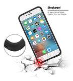 Floveme iPhone 7 / 8 hybrid case hoesje met ruimte voor 2 pasjes - zwart