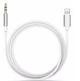 Lightning naar 3.5mm AUX kabel - zilver