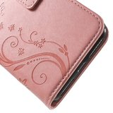 iPhone 7 / 8 wallet plus portemonnee hoesje - roze vlinders