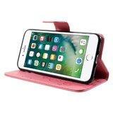 iPhone 7 / 8 wallet portemonnee hoesje - roze vlinders