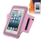 Sport armband voor iPhone 5 5S 5C SE & iPod touch v5 v6 - roze_