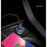 Baseus mini autolader 2x usb poort 3.1A - zwart