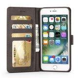 LC.IMEEKE Wallet / portemonne hoesje for iPhone 8 Plus / iPhone 7 Plus - Grijs
