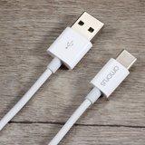 Amorus USB-C Kabel naar USB A Kabel - 1 meter - Wit_