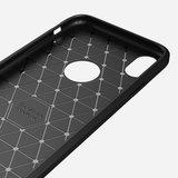 Carbon Fibre Brushed TPU Case voor iPhone XR - zwart