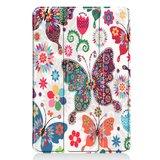 Tri-fold smart case hoes voor iPad mini (2019) / iPad mini 4 - vlinders en bloemen
