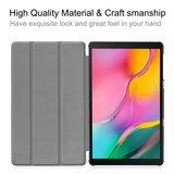 Tri-fold smart case hoes voor Samsung Galaxy Tab A 10.1 met standaard voor T510 / T515 (2019)