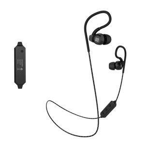 LANGSDOM BS80 oordopjes bluetooth draadloze stereo handsfree hoofdtelefoon - zwart