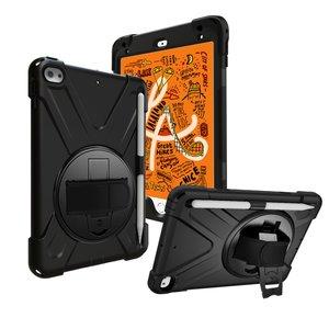 iPad mini 4 / iPad mini (2019) Hand Strap hoes armor case - Zwart