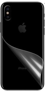 Achterkant protector folie voor iPhone Xs / X anti fingerprint - mat