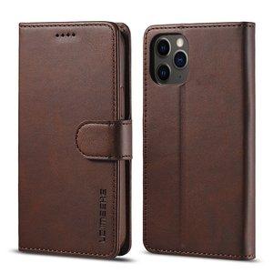LC.IMEEKE Wallet / portemonnee hoesje voor iPhone 12 - coffee / bruin