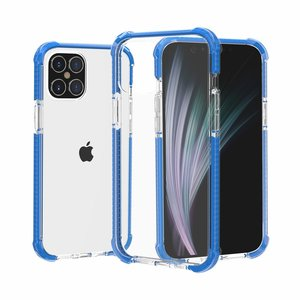 iPhone 12 / iPhone 12 Pro bumper case TPU + acryl - transparant blauw