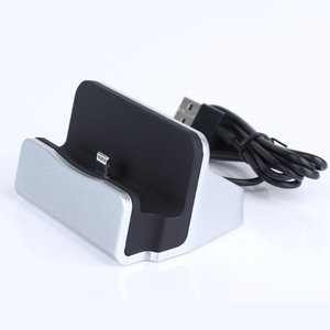 Dock voor iPhone - zwart / zilver