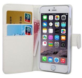 iPhone 7 plus wallet case hoesje - wit