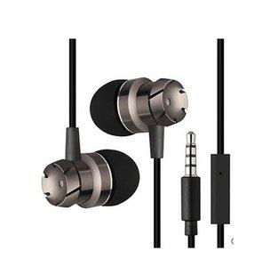 In-ear oordopjes met microfoon - grijs zwart
