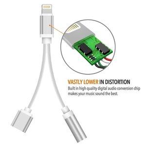 Lightning compatible 2 in 1 audio adapter opladen & audio voor iPhone 7 / 8