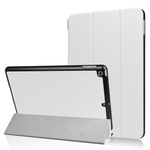 Tri-fold smart case hoes voor iPad 9.7 (2017 / 2018) - wit