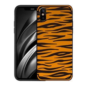 NXE iPhone Xs / X TPU hoesje tijger patroon