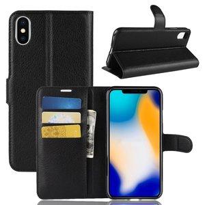 iPhone Xs Max wallet / portemonnee case hoesje - zwart