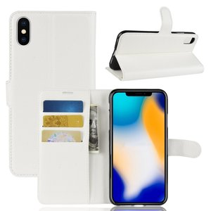 iPhone Xs Max wallet / portemonnee case hoesje - wit