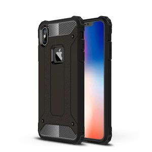 Armor Guard hard + TPU hybrid case hoesje for iPhone Xs Max - zwart