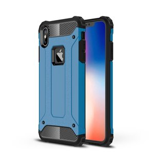 Armor Guard hard + TPU hybrid case hoesje for iPhone Xs Max - blauw