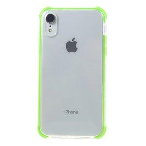 iPhone Xr bumper case TPU + acryl - transparant groen